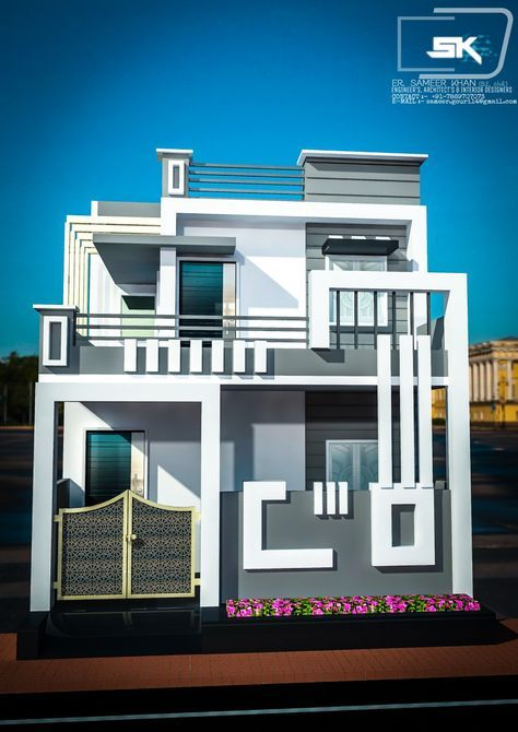 Pin By Vijaybannubungas On House Front Design Small House Exteriors Small House Elevation Modern House Exterior