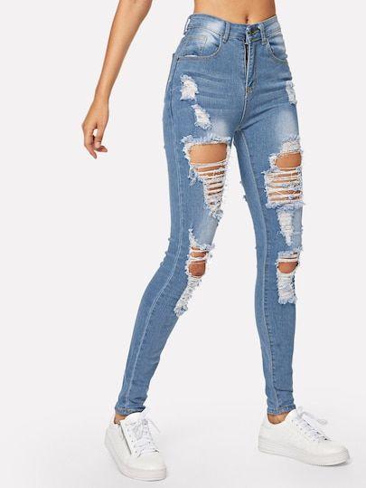 Jeansfor Women Romwe Pantalones Jeans De Moda Jeans De Moda Pantalones De Moda