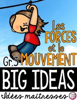 Les Forces Et Le Mouvement Science Big Ideas Grade 3 Science Ontario Curriculum French Teaching Resources