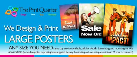 Promoting Our Poster Design Print Services Print Design Poster Design