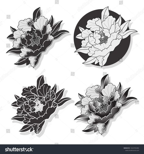 Find Vector Black Peony Traditional Japanese Tattoo stock images in HD and millions of other royalty-free stock photos, illustrations and vectors in the Shutterstock collection. Thousands of new, high-quality pictures added every day. Traditional Japanese Tattoo Flash, Traditional Tattoo Girls, Traditional Tattoo Flowers, Japanese Peony Tattoo, Japanese Tattoo Designs, Flower Tattoo Designs, Design Set, Art Design, Blackwork