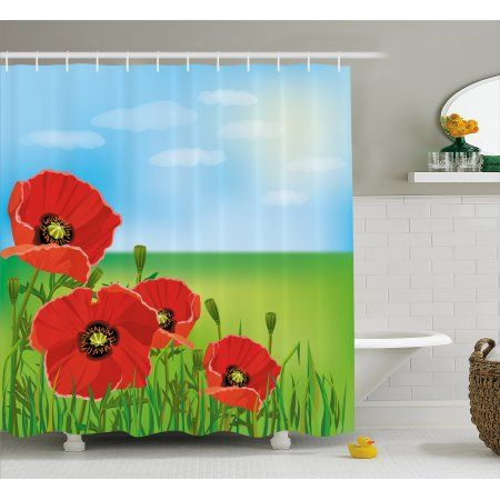 Poppy Shower Curtain Sunny Day Is Upon