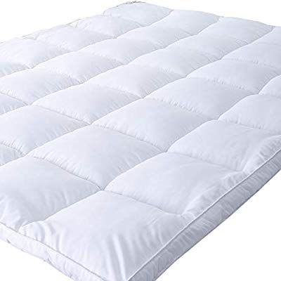 Amazon Com Naluka Mattress Topper Twin Size Premium Hotel Collection Down Alternative Quilted Featherbed Luxury Mattress Topper Mattress Covers Mattress Pad