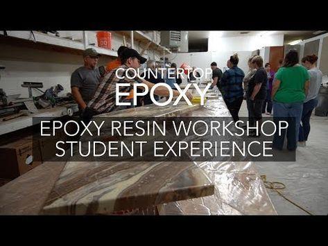 Introductory Advanced Epoxy Resin Workshop Epoxy Countertop