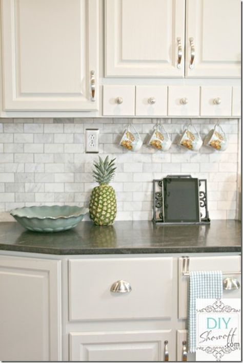 Charmant Feature Friday: The DIY Showoff   Marble Tiles, Marble Tile Backsplash And  Dark Counters
