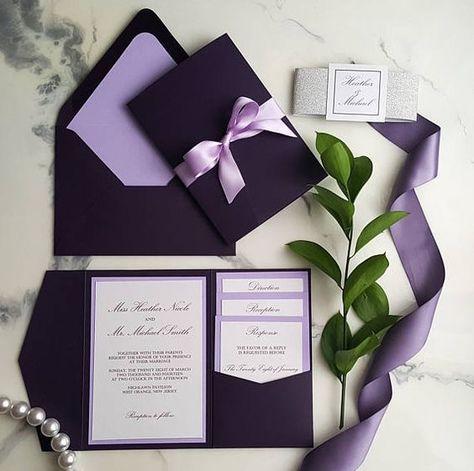 Bodas En Color Ultra Violet En 2019 Invitaciones Para Boda