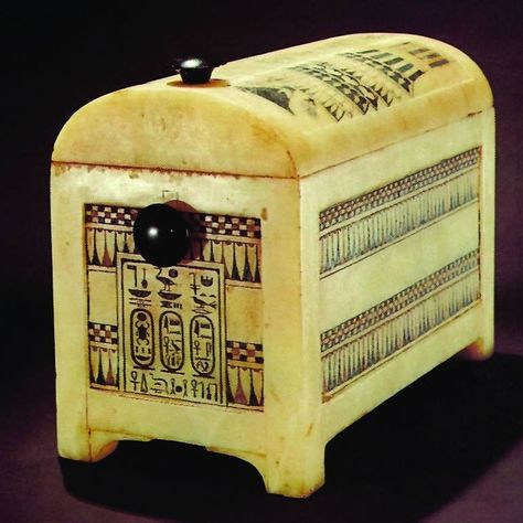 Painted Alabaster Casket From The Tomb Of Tutankhamun Egypt