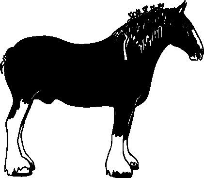 Make Mine a DraftQuality Vinyl Clydesdale Draft Horse Window Decal Sticker