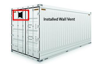 Shipping Storage Conex Container Moisture Control System Shipping Container Conex Container Passive Ventilation System