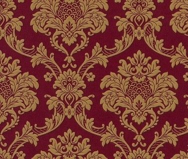 Rood Goud Barok Behang Xxx23 Red And Gold Wallpaper Gold Wallpaper Damask Wallpaper