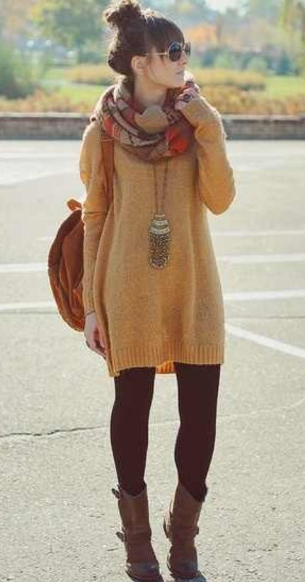 Mustard yellow oversized sweater. // | If I had style. | Pinterest ...