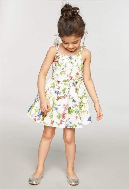 6a2e89c5caceb girls floral print summer dress #kidsfashion #kids #childrenswear ...