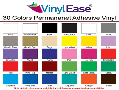 60 Sheets 12 In X 6 In Permanent Craft Vinyl For Cricut Like Major Branded Vinyl Vinyl Crafts Vinyl Signs Crafts