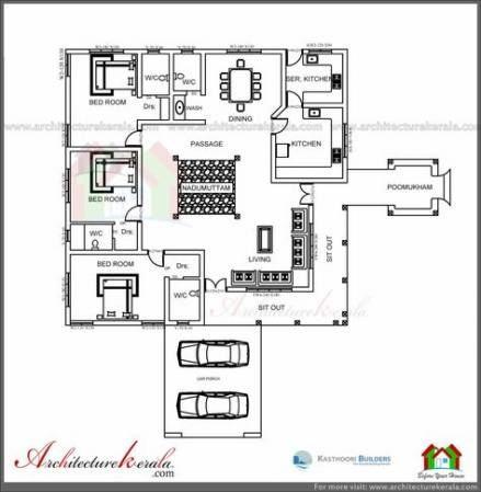 68 Ideas Home Architecture Plan Courtyards For 2019 In 2020 Traditional House Traditional House Plan Kerala House Design