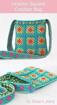 Classic granny square crochet bag by Dada's place #crochetbag #grannysquare #classicgrannysquare #crochet     Here's a shopping bag. I like simple, fun, quick-ending jobs.  The necessary materials are actually just rope and crochet. Our rope should be a sturdy rope that does not stretch, the weave is already a flexible mesh, if your rope is also flexible, it will not be pleasant. It shouldn't be too thick... #bag #cla #Classic #Crochet #crochetbag #Dadas #Granny #grannysquare #place #Square