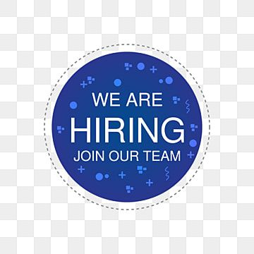 We Are Hiring Round Blue Png Background Design Template We Are Hiring Png Images We Are Hiring Vector Were Hiring Png Png And Vector With Transparent Backgro Design Template Psd Template