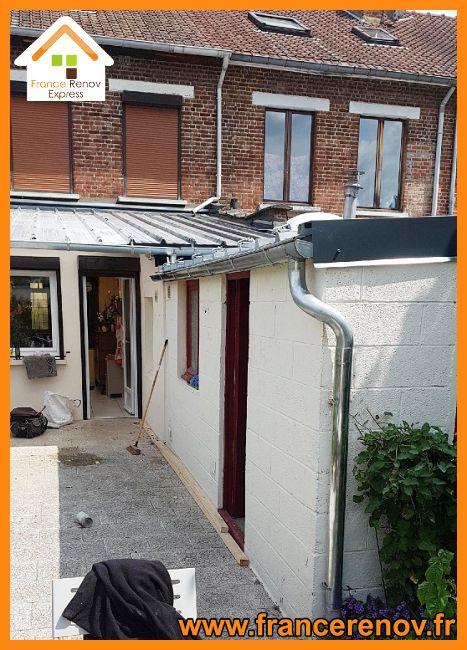 Renovation D Une Toiture D Extension Bac Acier A La Madeleine Toiture Refection Toiture Toiture Fibro Ciment