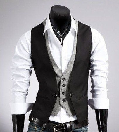 Hot sale Men's plaid vest fake two design men Slim sleeveless jacket mens dress vest formal fashion casual waistcoat suit CHOLYL Mens Suit Vest, Mens Suits, Suit Jacket, Terno Slim, Moda Pop, Men's Waistcoat, Waistcoat Men Casual, Party Kleidung, Man Stuff