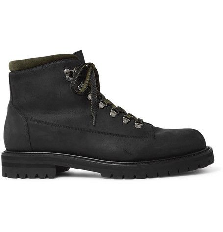 Jacques Shearling Lined Waterproof Waxed Suede And Full