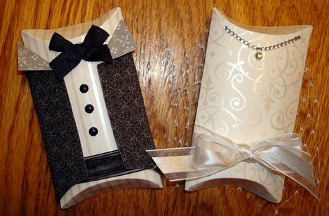 Stampin' Up!  Pillow Box Bride and Groom  Joni Seith  Wedding