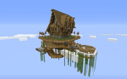 House In A Floating Island Minecraft Adventures D Pinterest