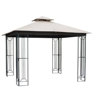 Sunjoy Archwood 12 Ft X 10 Ft Cedar Frame Gazebo With Double Tier Steel Roof Hardtop A102007500 In 2020 Gazebo Patio Gazebo Steel Gazebo