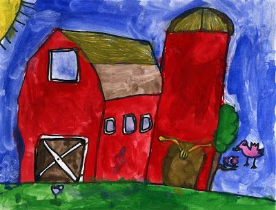 Art Projects for Kids: Kieran's Red Barn
