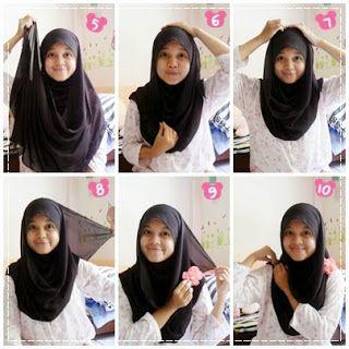 Tutorial Jilbab Untuk Anak Sekolah Sma Kursus Hijab Gambar Anak