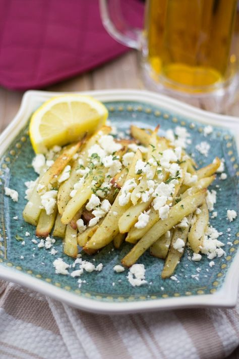 Best fries ever Feta Fries   Greek Style Fries With Feta  Lemon & Olives   Greek Food & Culture Blog