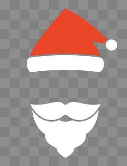 Beard translucent. Christmas decorative pattern merry