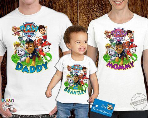 Paw Patrol Shirt Personalized T-shirts Custom Birthday Shirts