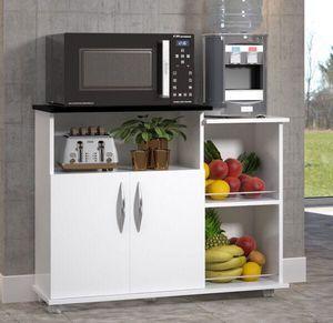 Armario Microondas Multiuso Cozinha Bebedouro Preto Em 2020