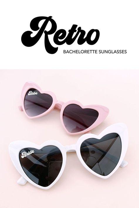 Bride & Babe Heart Sunglasses