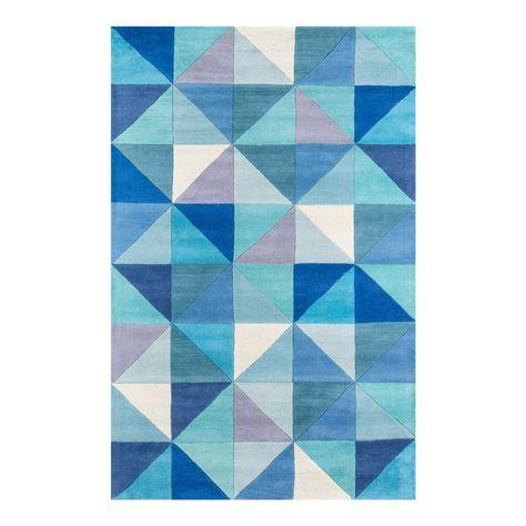 Contemporary Momeni Delhi Hand Tufted Blue Wool Area Rug 8 X 10 In 2020 Hand Tufted Rugs Wool Area Rugs Blue Tufted Rug