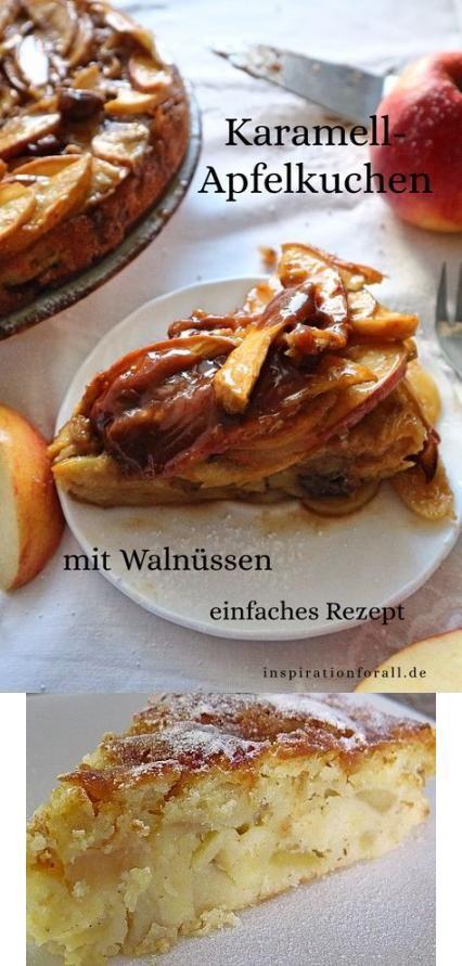 Saftiger Karamell Apfelkuchen Mit Walnuss Einfaches Schnelles Rezept Fur Apfel Kuchen Mit Karam In 2020 Apfel Nuss Kuchen Apfel Zimt Kuchen Streuselkuchen Mit Obst