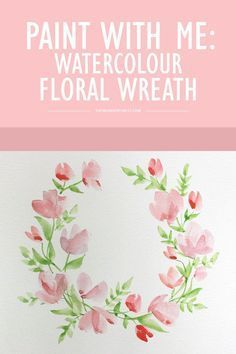 Watercolor Flower Wreath Clipart Angela Small Set Hand Painted