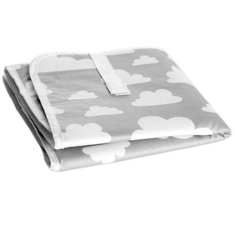 Farg \ Form cloud Moln print grey foldable baby change mat - change of address printable form