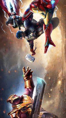 Thanos Vs Iron Man Captain America Thor Avengers Endgame 8k