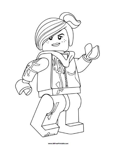 Wyldstyle Lego Movie Coloring Pages Di 2020 Dengan Gambar