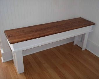 Farmhouse Bench Entryway Bench Kitchen Bench Mudroom Bench T V Stand Living Room Bench In 2020 Living Room Bench Farmhouse Bench Farmhouse Furniture