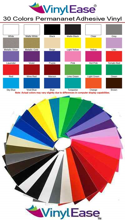 7 Rolls Of 12 In X 10 Ft Permanent Sign Craft Vinyl Upick From 30 Colors V0303 Vinyl Crafts Vinyl Signs Cricut Vinyl