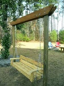 Freestanding Swing Freestanding Porch Swing Simple Homemade Swing