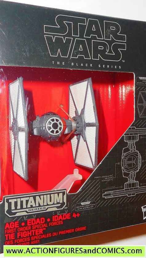 Star Wars Black Series Titanium Vehicle First Order Special Forces TIE Fighter