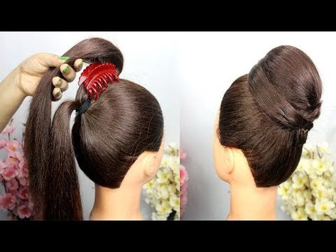 Very Easy Hairstyle With Using Clutcher Easy Hairstyles For Party Clutcher Hairstyle Youtube Easy Party Hairstyles Very Easy Hairstyles Hair Styles