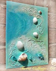 Shells glued to painted canvas beachy keen pinterest shell 50 magical constructions of crocodiles shells and shells do it yourself diy solutioingenieria Image collections
