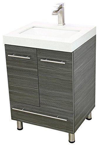 Windbay 24 Free Standing Bathroom Vanity Sink Set Vanities Sink Dark Grey For Sale Bathroom Vanity Vanity Sink Vanity