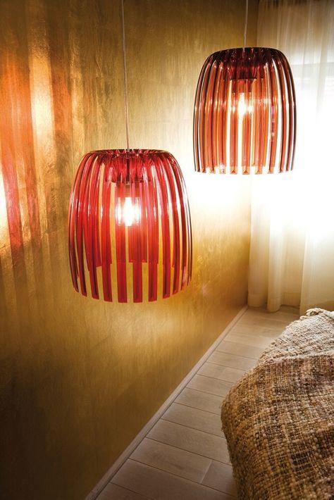 Koziol Hanglamp Josephine M.Koziol Josephine Hanglamp M Transparant Rood Koziol Design