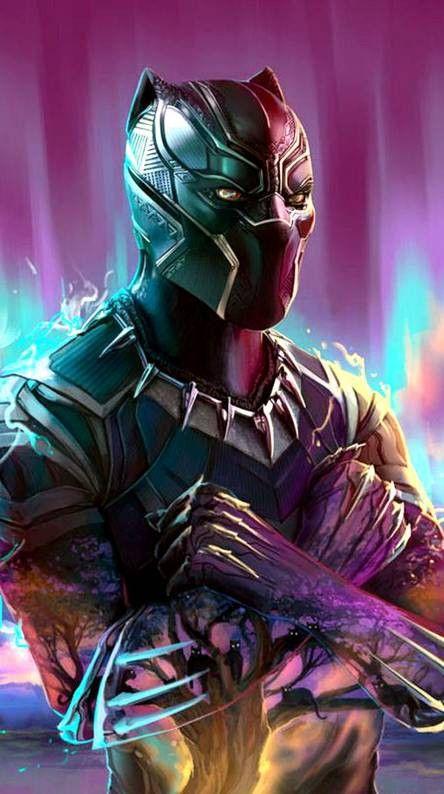 Desktop Wallpaper Black Panther Superhero Dark Glowing Mask Hd Image Picture Backgrounds 3f3 Black Panther Hd Wallpaper Black Panther Art Neon Wallpaper