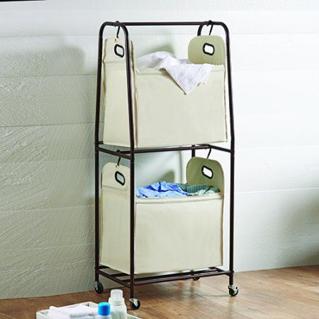 Hometrends 3 Bin Laundry Sorter Walmart Canada Dorm Room Items Laundry Sorter Laundry