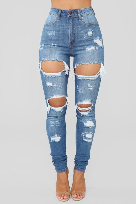 Womens Drama Jeans in Medium Blue Wash Size 7 by Fashion Nova